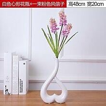 LeediooHeimtextilien Schmuck Mode kreativ floral Vase moderner, minimalistischer Dekoration herzförmigen Blüte, [Preis] herzförmige Vase weiß rosa Hyazinthe