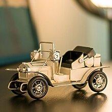 LeediooRetro Vintage auto Modell Auto Dekoration Dekoration cabinet Home Ausstattung Wohnzimmer TV-schrank Dekorationen Bücherregal, weiße Cabrio
