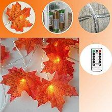 Leegicst Lichterketten,Dekoration Blätter