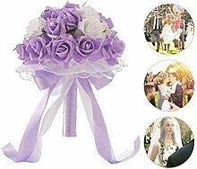 Leegoal Hochzeitsstrauß Romantische Braut