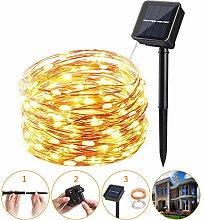 Leeko Lichterkette, LED Solar Lichterkette mit