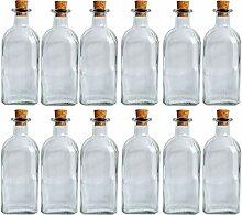 Leere Apotheker Glas Flasche 1000ml Korkverschluss