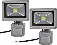 Leetop 2pcs 10W LED Fluter Flutlicht Außen