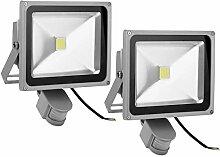 Leetop 2pcs 30W LED Fluter Flutlicht Außen
