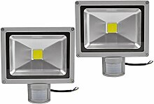Leetop 2pcs 50W LED Fluter Flutlicht Außen