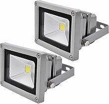 Leetop 2X 10W LED Strahler Kaltweiß Fluter Licht