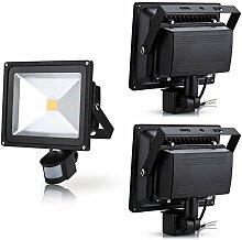 Leetop 3pcs 30W LED Fluter Flutlicht Außen
