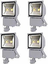 Leetop 4X 100W LED Strahler FlutlichtStrahler +