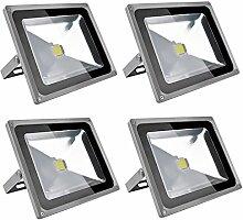 Leetop 4X 50W LED Strahler Kaltweiß Fluter Licht