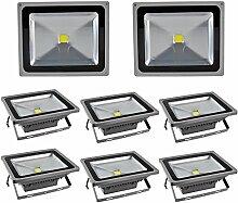 Leetop 8X 50W LED Strahler Kaltweiß Fluter Licht