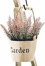 leezeshaw Künstliche Blumen beflockt Lavender Bouquet Fake Lavendel Strauß Kunstleder Pflanze 4/6/8pcs für Innen-Außen Home Garten Büro Balkon Hochzeit Decor, rose, 4 Stück