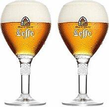 Leffe Bierglaser Bier Kelch 33cl (Set von 2) + 2