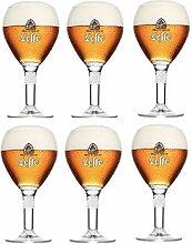 Leffe Bierglaser Bier Kelch 33cl (Set von 4) + 4