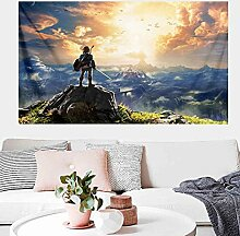 Legend of Zelda Breath Wild Wandteppich Wandbehang