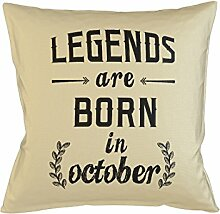 Legends Are Born In October Birthday Schlafsofa Home Décor Kissen Kissenbezug Fall Beige