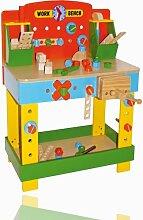 Legler Holzspielzeug Holz Werkbank Tobi mit