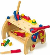 Legler Lernspielzeug Holzspielzeug Werkbank Elefan