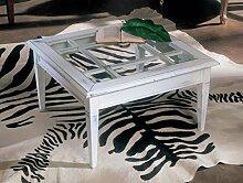 Legno&Design Couchtisch quadratisch mit Gitter und