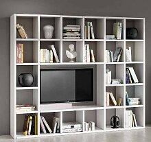 Legno&Design Wohnwand-TV Bücherregal Wohnzimmer