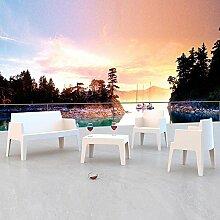 Legno&Design Wohnzimmer passende Set Fiberglas