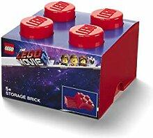 LEGO 4 Knoppen Aufbewahrungsbox, Plastik, Rot, One