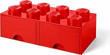 Lego - Brick Drawer 8 Aufbewahrungsbox, rot