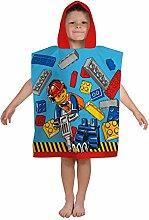 LEGO City Construction Kapuzen Poncho Handtuch