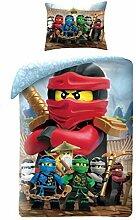 Lego Ninjago Bettwäsche 140x200cm LEG742BL