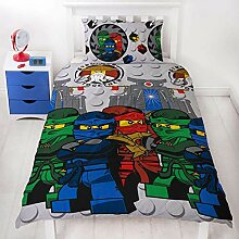 Lego Ninjago Einzelbett-Bettbezug, offizielles