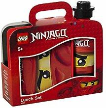 LEGO NINJAGO Lunch-Set. Brotdose & Trinkflasche, ro