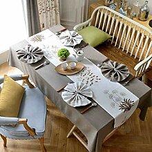 LEGOUGOU Rechteckige Tischdecke Tischdecke aus