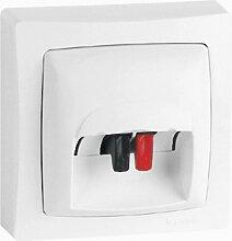Legrand LEG97439 Anschlussdose für Lautsprecherkabel, hervorstehend, Weiß