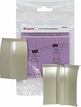 Legrand LEG98313 für Abluft-Kupplung Winkel, für Sockel céliane, 82 x 12,5 mm Titan