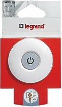 Legrand Schutzkontakt-Stecker mit beleuchtetem LED-Schalter EIN/AUS (3 Stück Schutzkontakt-Stecker)