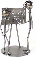 Lehrer als Schraubenmännchen Drahtfigur Drahtfigur Schraubenkunst Metallmännchen Metallfigur Metallkunst aus Eisen und Kupfer Design Hinz & Kuns