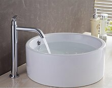 Lei Vintage Messing Badezimmer Wasserfall Mischbatterie hoch, Messing antik