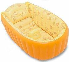 LEI ZE JUN UK- Aufblasbares Babybadewanne-Kind-Säuglingskleinkind-starke faltbare Badewanne mit weichem Kissen-zentralem Sitz Badewannen mit Belüftung