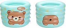 LEI ZE JUN UK- Aufblasbares Babybadewanne-Kind-Säuglingskleinkind-starke faltbare Badewanne Badewannen mit Belüftung ( Farbe : A )