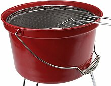 Leicht Camping Picknick Holzkohle Eimer-Grill Grill - ro