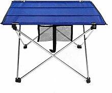 Leichter Falttisch Klapptisch Campingtisch Tragbare Falttisch Oxford-Gewebe Tisch für Outdoor BBQ Camping mit Tragetasche -74x55x52 cm