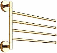 Leidener TM 4-bars Handtuch Bar Gold Messing