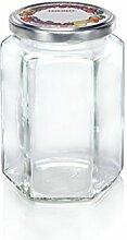 Leifheit Sechskantglas 770ml, Einmachglas,