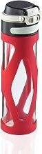 Leifheit Trinkflasche Flip 600 ml rot Aufbewahrung