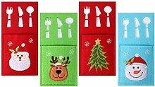 Leikance Weihnachtsgeschirr-Halter, 12 Stück,