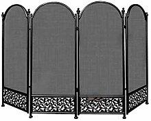 LeIKEGONG Kaminschutzgitter mit 4 Paneelen,
