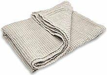Leinen Blend Badetuch/Blatt–Made in Baltischer Region–Hellgrau–für Körper, Hände, Gesicht–Sauna, Spa, Fitnessraum, Sauna verwendet, weiß, 100x135 cm