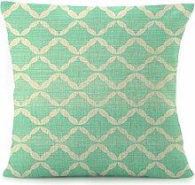 Leinen Decor Quadratisch Muster Überwurf Kissen Schutzhülle 18von 45,7cm