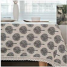 Leinen Dekor Tischdecke für den Außen- und