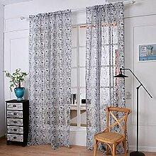 Leinen Garn Druck Halbschattierung Wohnzimmer Schlafzimmer Die fertige Produkt Verschleiß bar Fenster Vorhänge 1 Panel , gray , 145*270cm