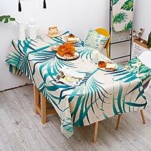 Leinen Grüne Pflanze Tischdecke Deckentuch Haus